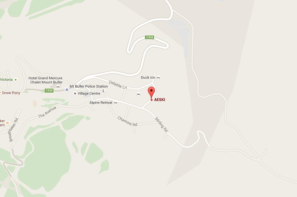 Aeski Lodge Accommodation Location - Mt Buller